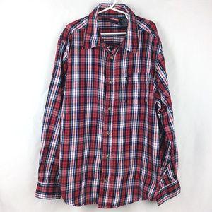 Wrangler Flannel Button Down Shirt Long Sleeve